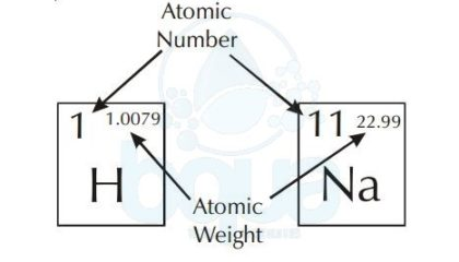 atomic number and atomic weight in periodic table of elements