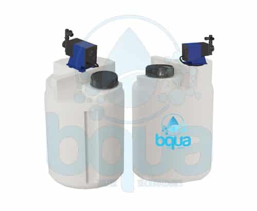 bqua chemical dosing tank pump system water treatment