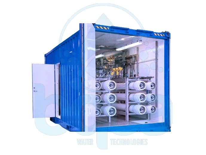 bqua containerized water treatment reverse osmosis system
