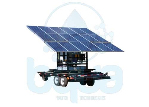 bqua mobile solar power reverse osmosis water treatment system