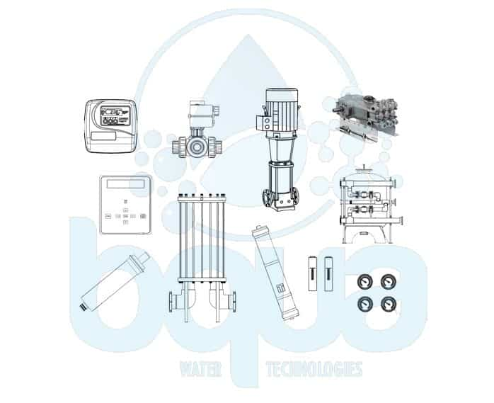 bqua water treatment reverse osmosis components 2D CAD